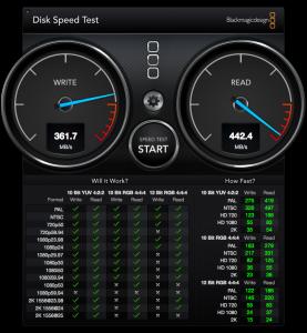 DiskSpeedTest SSD