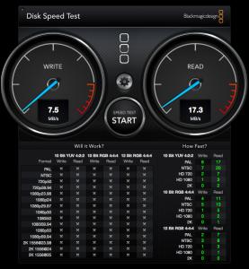 DiskSpeedTest JetDrive